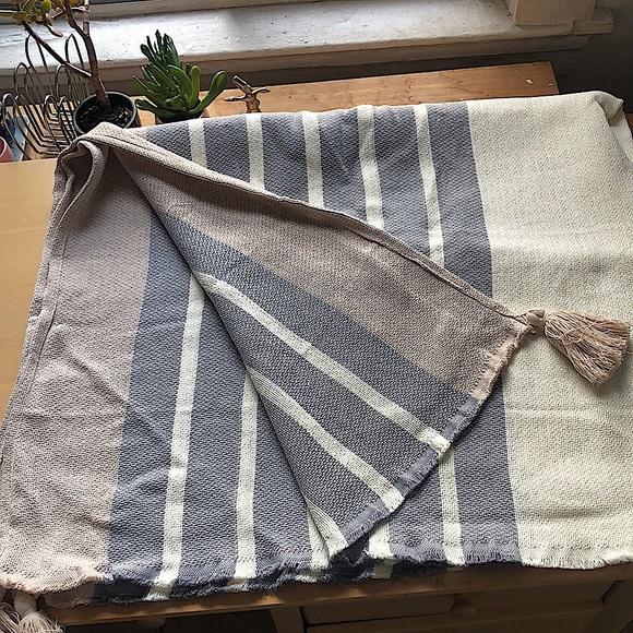 Imani Collective Woven Throw Blanket in Slate